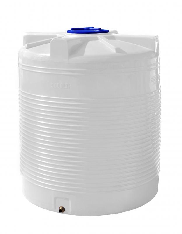 Бочка вертикальная на 3000 литров (3м3) полиэтиленовая