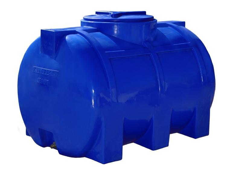 Емкость горизонтальная на 350 литров, Двухслойная