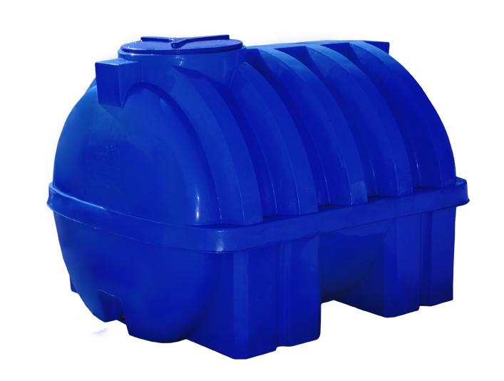 Емкость на 750 литров усиленная ребром, Двухслойная горизонтальная