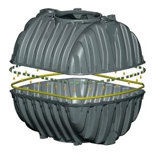 Септик трехкамерный на базе баков Carat S 6450 литров