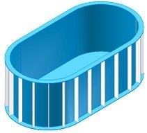 Чаша овал для бассейна на 22,5 м3