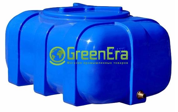 Емкость на 200 литров, горизонтально овальная, двухслойная