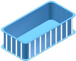 Прямоугольная чаша для бассейна на 6,8 м3
