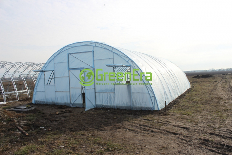 Теплица Урожай 6х80 под пленку однослойная комплект