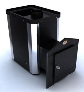 Печь-каменка для бани Классик ПКС-01Ч с выносной топкой