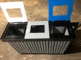 Контейнер Рама для сортировки отходов тройной