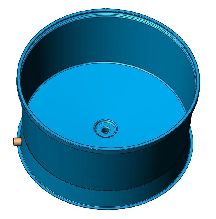 Бассейн для разведения рыбы 3900 литров, пластиковый