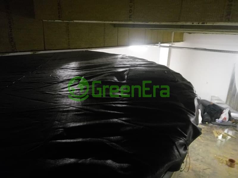 Модульный резервуар на 2089 м3 (2089000 литров) с пластиковой крышей