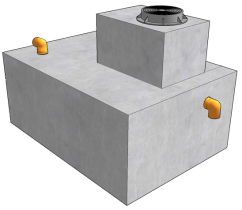 Cептик НИКОС на 4500 литров, трехкамерный (стандарт) (4,5м3)