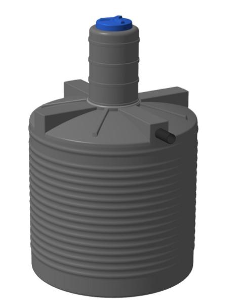 Пластиковая выгребная яма 5000 литров для канализации загородного дома