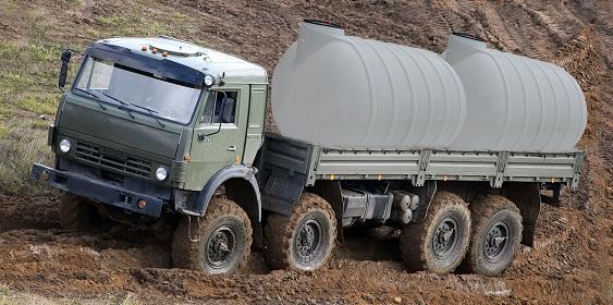 2 емкости для транспортировки в кузове Камаза